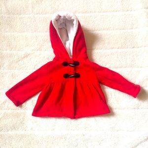 Carter's Red Hooded Jacket Size: 18 Months